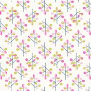 Lewis & Irene - Hann's House - 5819 - Modern Leaf Print on White - A280.1 - Cotton Fabric